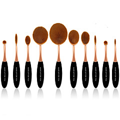 10 Brush Sets Synthetisch haar Professioneel / Beugel Plastic Gezicht / Oog / Lip MAKE-UP FOR YOU