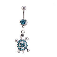 Χαμηλού Κόστους Κοσμήματα Σώματος-Γυναικεία Κοσμήματα Σώματος Navel & Bell Button Rings Ζιρκονίτης απομίμηση διαμαντιών Μοναδικό Μοντέρνα Κοσμήματα Λευκό Μπλε Κοσμήματα