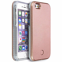Voor iPhone 6 hoesje iPhone 6 Plus hoesje Hoesje cover LED Achterkantje hoesje Effen kleur Hard PC vooriPhone 6s Plus iPhone 6 Plus