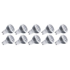 cheap LED Bulbs-4W E14 GU10 GU5.3(MR16) E26/E27 LED Spotlight MR16 5 High Power LED 400 lm Warm White Cold White 3000/6500 K Decorative AC 85-265 V