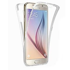 Varten Samsung Galaxy S7 Edge Läpinäkyvä Etui Kokonaan peittävä Etui Yksivärinen TPU SamsungS7 edge / S7 / S6 edge plus / S6 edge / S6 /