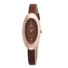 お買い得  レディース腕時計-女性用 リストウォッチ クォーツ ホット販売 レザー バンド ハンズ チャーム ファッション ブラック / 白 / ブラウン - ブラック Brown レッド