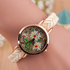 preiswerte Tolle Angebote auf Uhren-Damen Armbanduhr Quartz Armbanduhren für den Alltag Leder Band Analog Charme Modisch Schwarz / Weiß / Blau - Rot Grün Blau
