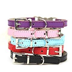 お買い得  犬用首輪/リード/ハーネス-犬 カラー 調整可能 / 引き込み式 ラインストーン PUレザー ブラック パープル レッド ブルー ピンク