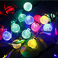 preiswerte LED Lichtstreifen-Leuchtgirlanden 30 LEDs Warmes Weiß RGB Weiß Lila Blau Wiederaufladbar Wasserfest 100-240V