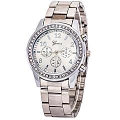 お買い得  大特価腕時計-女性用 クォーツ リストウォッチ 模造ダイヤモンド カジュアルウォッチ ステンレス バンド チャーム ファッション シルバー ゴールド
