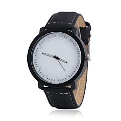 preiswerte Armbanduhren für Paare-Paar Armbanduhr Armbanduhren für den Alltag Leder Band Charme / Modisch Schwarz / Weiß / Ein Jahr
