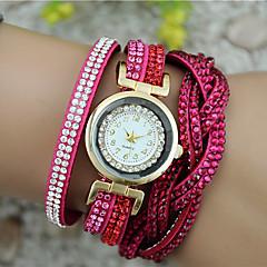preiswerte Damenuhren-Damen Armband-Uhr Imitation Diamant PU Band Charme / Modisch Schwarz / Weiß / Blau / Ein Jahr / Tianqiu 377