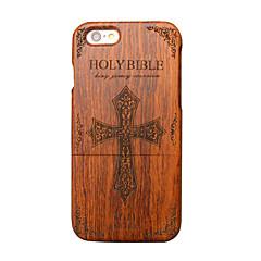 Для Кейс для iPhone 6 Чехлы панели Ультратонкий Other Задняя крышка Кейс для Слова / выражения Твердый Дерево для Apple