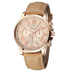 preiswerte Damenuhren-Geneva Damen Quartz Armbanduhr Armbanduhren für den Alltag PU Band Charme / Modisch Schwarz / Weiß / Blau / Lila