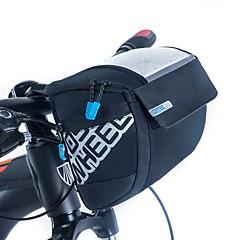 ROSWHEEL 자전거 가방 3L자전거 핸들바 백 방수 지퍼 착용 가능한 충격방지 방습 싸이클 가방 천 메쉬 싸이클 백 사이클링/자전거