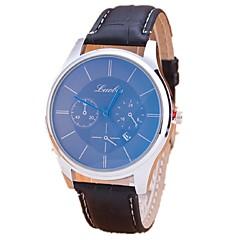 preiswerte Damenuhren-Paar Modeuhr Armbanduhren für den Alltag PU Band Schwarz / Braun
