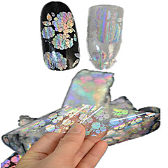 abordables Adhesivos Completos para Uñas-1 Engomada del arte del clavo Puntas Completas de Uña Abstracto Dibujos Encantador Boda maquillaje cosmético Dise?o de manicura