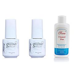 Gel UV para esmalte de uñas 5ml+5ml+60ml 3 Esmalte Top Coat Esmalte Base Coat Empapa de Larga Duración