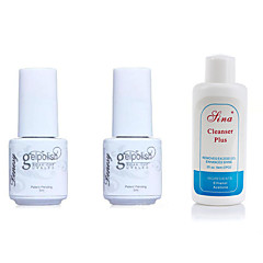 billige UV-gel-Negle Polish UV Gel 5ml+5ml+60ml 3 Top Lag Basis Jakke Vaske Af Langtidsholdbar