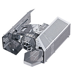 cheap Stacking Blocks-3D Puzzles Jigsaw Puzzle Metal Puzzles Model Building Kit Fighter Aircraft Tie Fighter DIY Metal Alloy Metal Valentine's Day Birthday