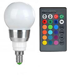 billige LED lyspærer-E14 LED-globepærer A50 1 leds Højeffekts-LED Fjernstyret RGB 100-200lm 2000-3500K Vekselstrøm 85-265V