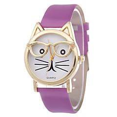 f7bee51e2be baratos Relógios Femininos-Mulheres Relógio de Pulso Quartzo Couro PU  Acolchoado Preta   Branco