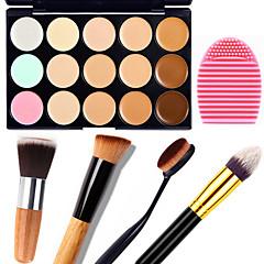 billige Øjenmakeup-15 Concealer/kontur+Concealer Børstetasker og rensemidler Makeupbørster Våd Mat Glans Ansigt Body Blegende Fugt Dekning Olie kontrol