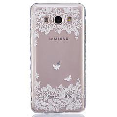 voordelige Galaxy Alpha Hoesjes / covers-hoesje Voor Samsung Galaxy Samsung Galaxy hoesje Transparant Achterkant Bloem Zacht TPU voor J7 J5 (2016) J5 J3 J2 J1 Ace J1 (2016) J1