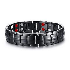 Męskie Bransoletki i łańcuszki na rękę Terapia magnetyczna Osobiste biżuteria kostiumowa Stal nierdzewna Circle Shape Biżuteria Na