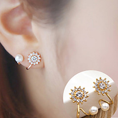 여성용 스터드 귀걸이 패션 미니멀 스타일 의상 보석 합금 Flower Shape 썬플라워 보석류 제품 일상 캐쥬얼