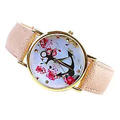 preiswerte Damenuhren-Damen Armbanduhr PU Band Blume / Modisch Weiß / Beige / Ein Jahr / SSUO 377