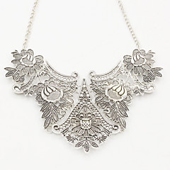cheap Necklaces-Women's Pendant Necklace - Ethnic European Geometric Flower Gold Silver Necklace For Formal Prom