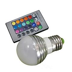 お買い得  LED 電球-1個 3 W 150 lm E26 / E27 LEDスマート電球 1 LEDビーズ ハイパワーLED リモコン操作 / 装飾用 RGB 85-265 V / # / 1個 / RoHs