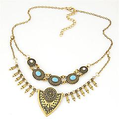 olcso Nyakláncok-Női Nyilatkozat nyakláncok  -  Személyre szabott Vintage Európai Ezüst Aranyozott Nyakláncok Kompatibilitás Parti Napi Hétköznapi