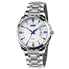 preiswerte Tolle Angebote auf Uhren-SKMEI Herrn Armbanduhr Kalender / Wasserdicht Edelstahl Band Charme Silber