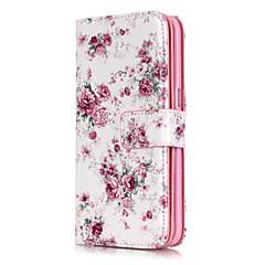 abordables Galaxy S3 Carcasas / Fundas-Funda Para Samsung Galaxy Samsung Galaxy S7 Edge Soporte de Coche Cartera con Soporte Flip Diseños Flor para S7 edge S7 S6 edge S6 S5 S4