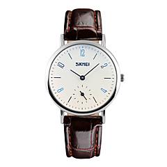 お買い得  大特価腕時計-SKMEI 女性用 クォーツ リストウォッチ 耐水 / クール レザー バンド ファッション ブラック / ブラウン
