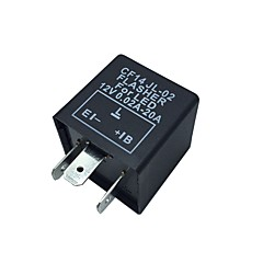 Bil Motorsykkel 12V Elektronisk LED Relay Fix Blinker Flasher Indicator