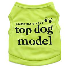 お買い得  犬用ウェア&アクセサリー-ネコ 犬 Tシャツ 犬用ウェア 花/植物 ローズ グリーン ブルー ピンク テリレン コスチューム ペット用 男性用 女性用 ファッション