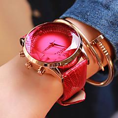 お買い得  レディース腕時計-女性用 ファッションウォッチ カジュアルウォッチ レザー バンド ブルー / レッド / パープル