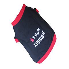 tanie Ubranka i akcesoria dla psów-Pies T-shirt Ubrania dla psów Oddychający Litery Litera i numer Czarny/Czerwony Kostium Dla zwierząt domowych
