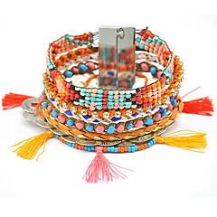Γυναικεία Βραχιόλια με Φυλαχτά Wrap Βραχιόλια Φιλία Φούντες Μοντέρνα Βοημία Style Ύφασμα Κράμα Κοσμήματα Κοσμήματα Για Καθημερινά Causal