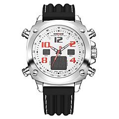 preiswerte Tolle Angebote auf Uhren-WEIDE Herrn Sportuhr Alarm / Kalender / Wasserdicht Silikon Band Luxus Schwarz / Duale Zeitzonen / Stopuhr