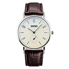 お買い得  メンズ腕時計-SKMEI 男性用 リストウォッチ クォーツ 30 m 耐水 クール レザー バンド ハンズ ファッション ブラック / ブラウン - ブラック Brown ホワイト / ブラウン 2年 電池寿命 / Maxell626 + 2025