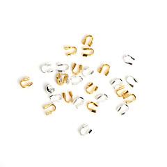 beadia 100db 4x4mm vas gyöngyök vezetékes őr gyám védő körök ékszerek megállapítások