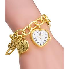 お買い得  メンズ腕時計-女性用 ファッションウォッチ ブレスレットウォッチ 日本産 クォーツ 日本産クォーツ / 合金 バンド Heart Shape シルバー ゴールド