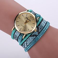 preiswerte Tolle Angebote auf Uhren-Damen Modeuhr / Armband-Uhr / Armbanduhr Cool / / Leder Band Leopard / Böhmische Schwarz / Weiß / Blau / Ein Jahr / Tianqiu 377