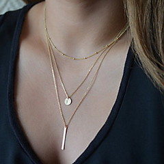 cheap Necklaces-Women's Pendant Necklace / Y Necklace - Ladies, Basic, Fashion Silver, Golden Necklace Jewelry For Party, Daily, Casual