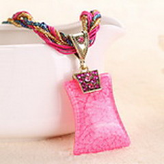 preiswerte Halsketten-Damen Kristall Glasperlen Anhängerketten - Krystall Böhmische, Modisch, Boho Blau, Hellblau, Khaki Modische Halsketten Schmuck Für Party, Normal, Arbeit