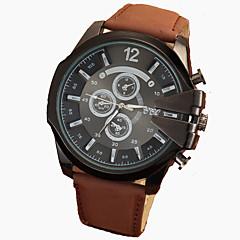お買い得  メンズ腕時計-男性用 リストウォッチ カジュアルウォッチ レザー バンド ブラック / ブラウン / Tianqiu 377