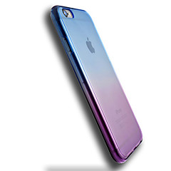 Для Кейс для iPhone 6 / Кейс для iPhone 6 Plus Прозрачный Кейс для Задняя крышка Кейс для Градиент цвета Мягкий TPU AppleiPhone 6s Plus/6