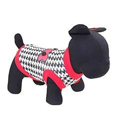 القطط / الكلاب T-skjorte أحمر ملابس الكلاب الصيف الأزهار / النباتية موضة