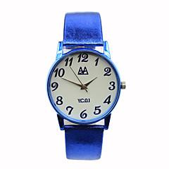 preiswerte Tolle Angebote auf Uhren-Damen Modeuhr Quartz Armbanduhren für den Alltag Leder Band Süßigkeit Blau Rot Braun Grün Rose