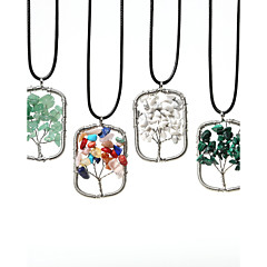 여성 팬던트 목걸이 공작 합성 보석 스테인레스 패션 보석류 제품 일상 캐쥬얼